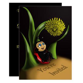 """Cartão Do """"convite"""" 5"""" do aniversário joaninha x 7"""""""