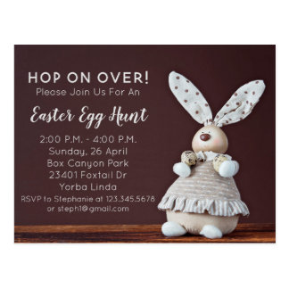 Cartão do convite da caça do ovo da páscoa do