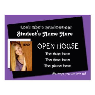 cartão do convite da casa aberta