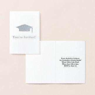 Cartão do convite da festa de formatura