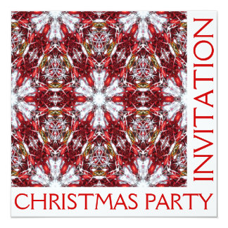 Cartão do convite da festa de Natal - vazio para
