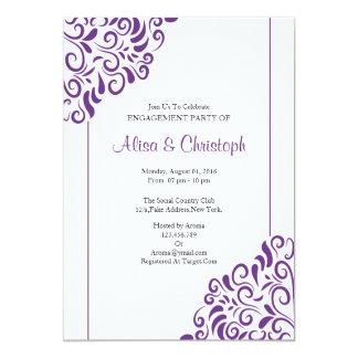 Cartão do convite da festa de noivado