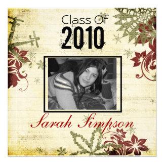 Cartão do convite da graduação