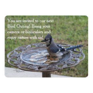 Cartão do convite da natureza da excursão do
