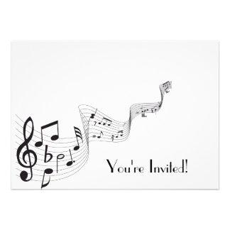 Cartão do convite da nota musical