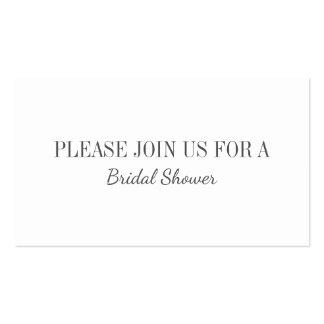 Cartão do convite da planície do chá de panela do cartão de visita