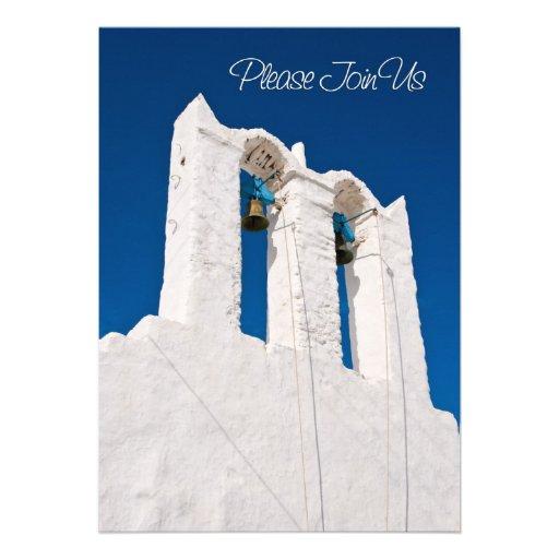 Cartão do convite da renovação do voto de casament