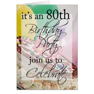 Cartão do convite de aniversário do 80 da diva