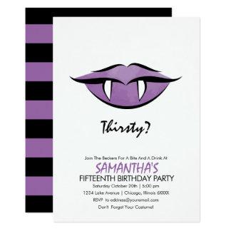 Cartão do convite de aniversário do gótico dos