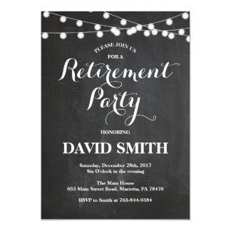 Cartão do convite de festas da aposentadoria do
