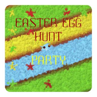 Cartão do convite de festas da páscoa