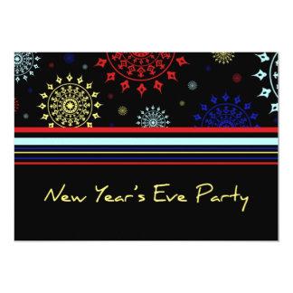 Cartão do convite de festas da véspera de Ano Novo