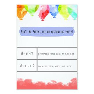 Cartão do convite de festas do escritório de