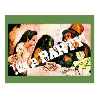 Cartão do convite de festas do vintage