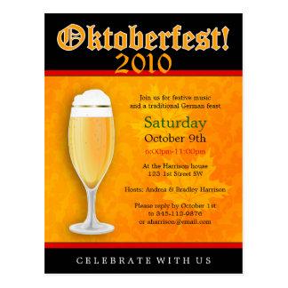 Cartão do convite de Oktoberfest Cartão Postal