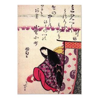 """Cartão Do """"convite de Ononokomatschi Poetess"""" de Hokusais"""