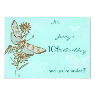 Cartão do convite do aniversário da borboleta