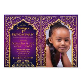 Cartão do convite do aniversário das noites árabes