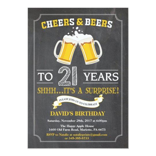 Cartão do convite do aniversário de 21 anos dos