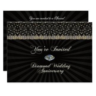 Cartão do convite do aniversário de casamento do