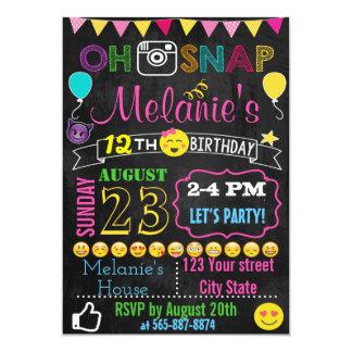 Cartão do convite do aniversário de Emoji