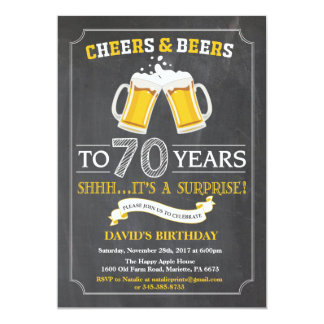 Cartão do convite do aniversário do 70 dos elogios