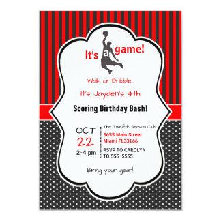Cartão do convite do aniversário do basquetebol