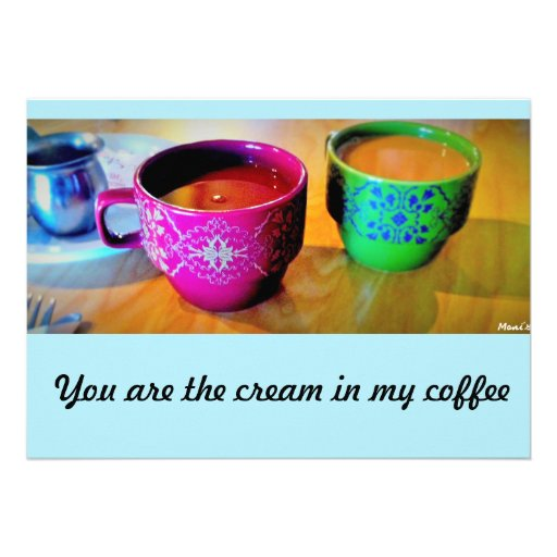 Cartão do convite do café