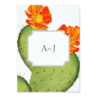 Cartão Cartão do convite do casamento do cacto