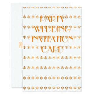 Cartão do convite do casamento do partido