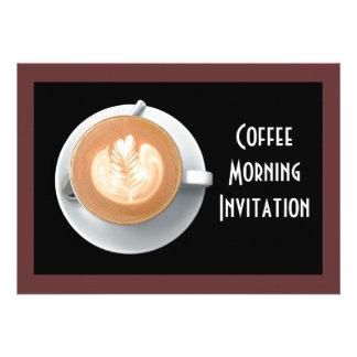 Cartão do convite do círculo do café
