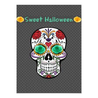 Cartão do convite do crânio