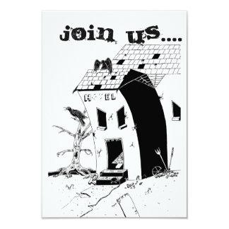 Cartão do convite do Dia das Bruxas do hotel de