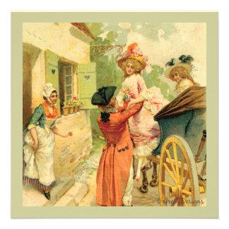 Cartão do convite do estilo do vintage de Marie An