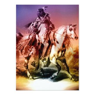 Cartão do convite do nativo americano
