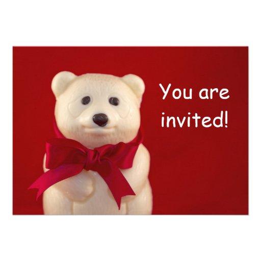 Cartão do convite do urso de ursinho