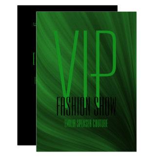 Cartão do convite do verde do evento do desfile de