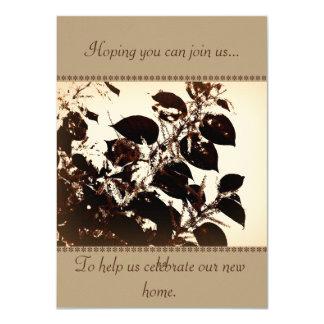 Cartão do convite + housewarming ou costume do