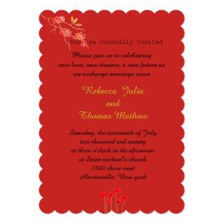 Cartão do convite para partidos do casamento