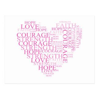 Cartão do coração da esperança da fé