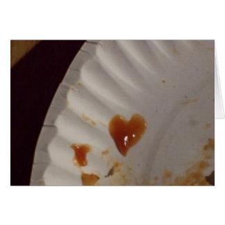Cartão do coração da ketchup