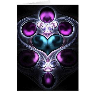 Cartão do coração da pedra de gema