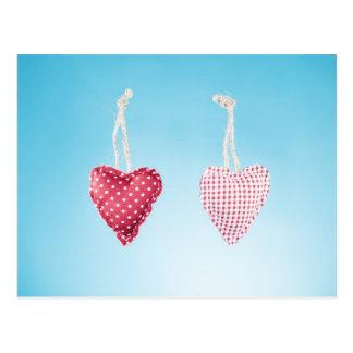 Cartão do coração do amor