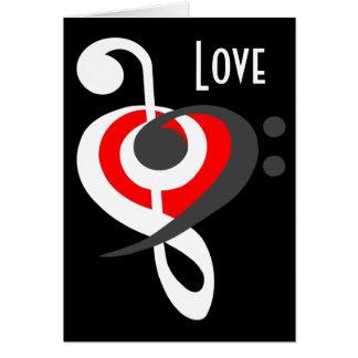 Cartão do coração do Clef