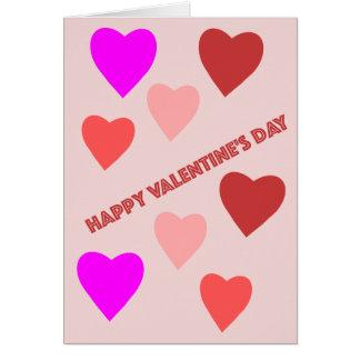 Cartão do coração do dia dos namorados