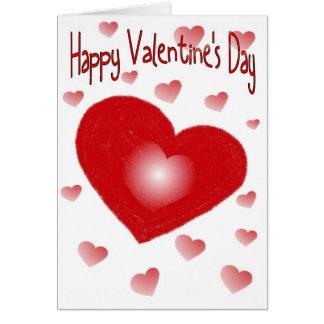 Cartão do coração do feliz dia dos namorados