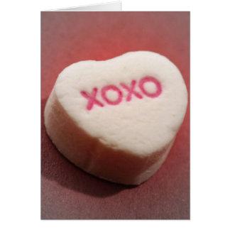 Cartão do coração dos doces de XOXO