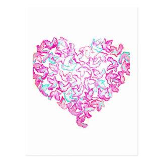 Cartão do coração e da pomba