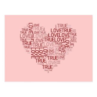 Cartão do coração e do amor