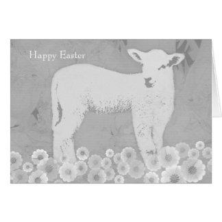 Cartão do cordeiro do primavera da páscoa